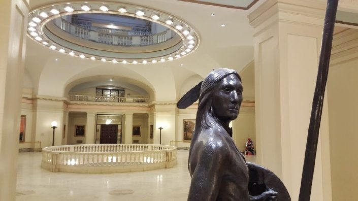 oklahoma state capitol - deaf man sues state